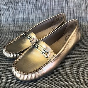 LIFE STRIDE Ivette Bronze Loafers Sz 8.5 Wide